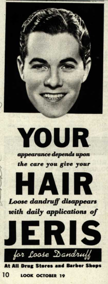 Jeri's hair tonic – YOUR appearance depends upon the care you give your HAIR (1943)