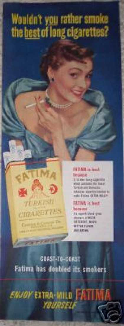 Fatima Turkish Cigarettes Extra Mild (1950)