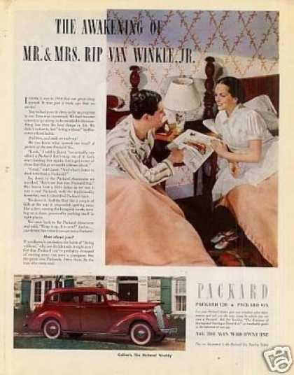 "Packard Car Color Ad ""The Awakening Of... (1937)"