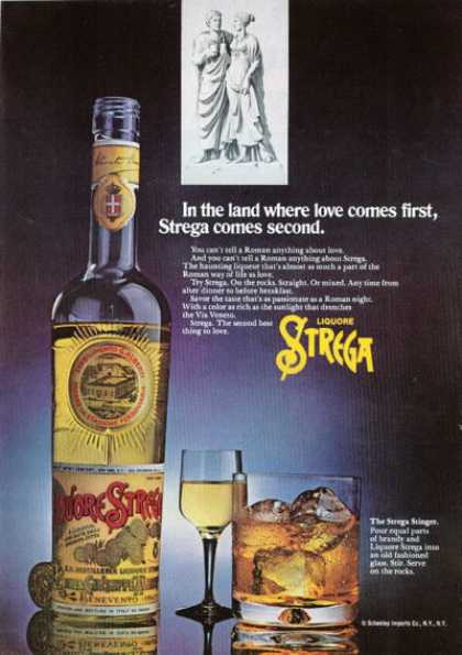 Strega Roman Liquore Bottle (1972)