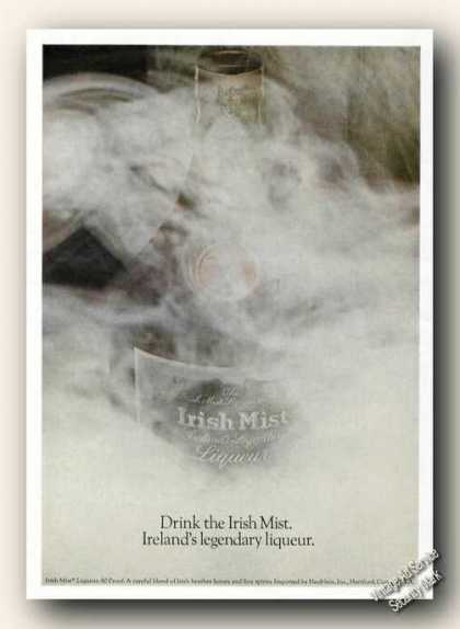 Drink the Irish Mist Ireland Legendary Liqueur (1974)