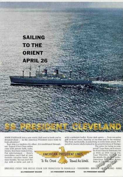 "Ss President Cleveland Photo ""To the Orient"" (1959)"