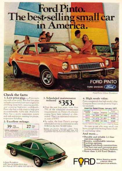 Ford Car – Ford Pinto / Orange (1977)