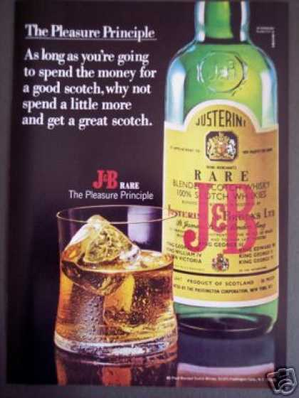 J&b Rare Scotch Whisky Pleasure Principle (1971)