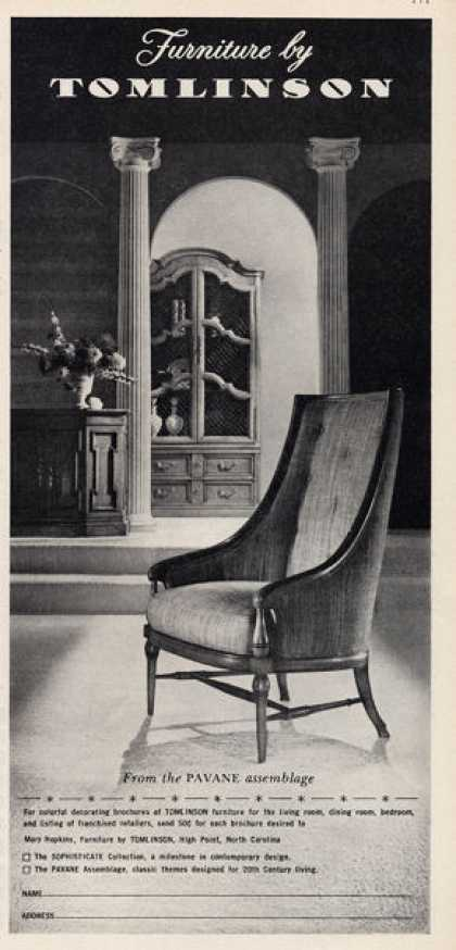 Tomlinson Furniture Chair Pavane Assemblage (1960)