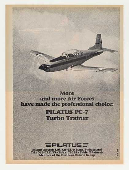 Pilatus PC-7 Turbo Trainer Air Force Aircraft (1982)