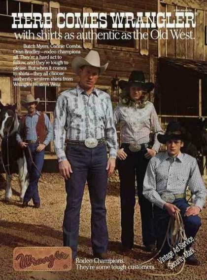 """Here Comes Wrangler"" Rodeo Champions Fashion (1981)"