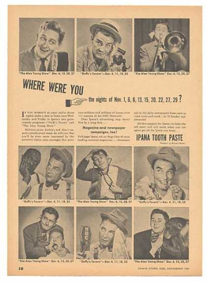 Alan Young Duffy's Tavern NBC Ipana Toothpaste (1946)