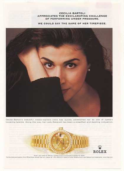 Cecilia Bartoli Rolex Lady Datejust Watch Photo (2001)