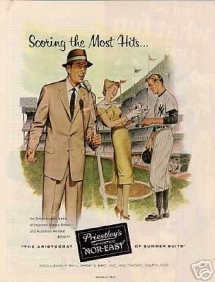"Priestley's Nor-east Suit Ad ""Scoring the Most... (1956)"