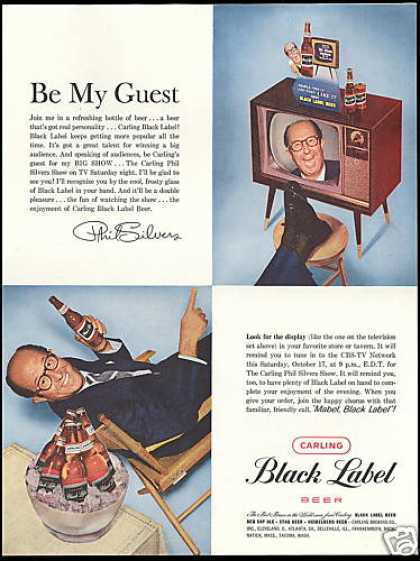 Carling Black Label Beer Phil Silvers Photo (1959)