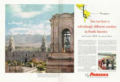 Panagra Airline Arequipa Peru White City (1958)