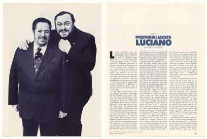 Luciano Pavarotti 11-Page Opera Photo Article (1976)
