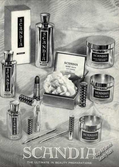 "Scandia ""The Ultimate In Beauty Preparations"" (1960)"