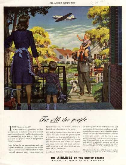The Airlines of the United State's Air Travel – For All the people (1945)
