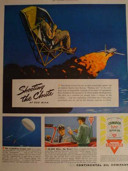Conoco Motor Oil Shooting the Chute (1950)