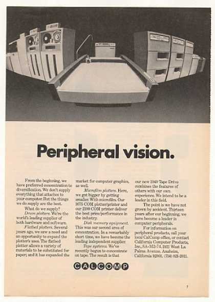 CalComp Computer Plotter Disk Tape System (1974)