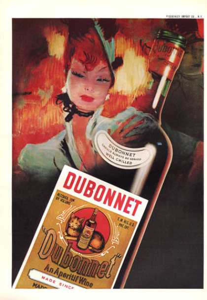 Dubonnet Aperitif Wine Bottle (1959)