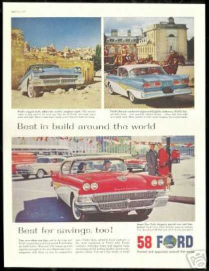 Ford Fairlane Vintage Photo Asia UK New York (1958)
