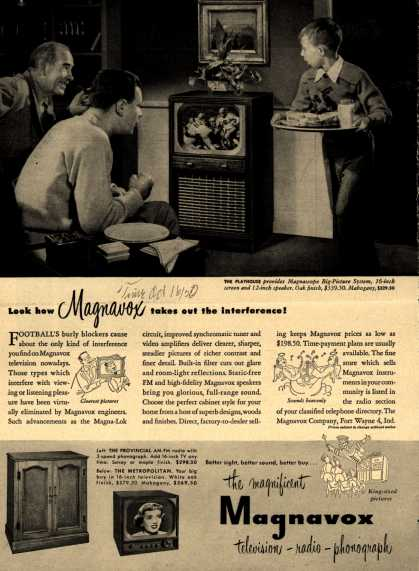 Magnavox Company's various – Look how Magnavox takes out the interference (1950)