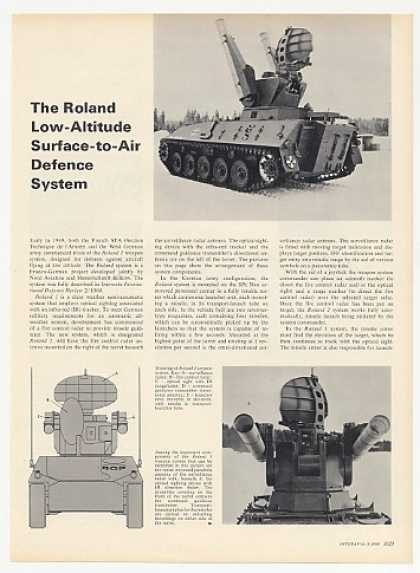 Roland 1 Weapon System 2-Page Photo Article (1969)