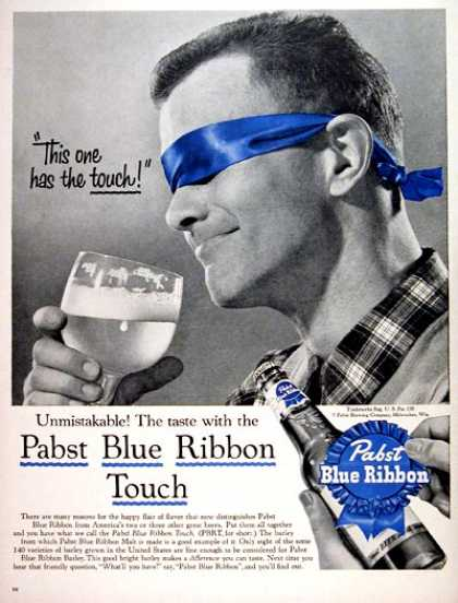 Pabst Blue Ribbon Beer #2 (1956)