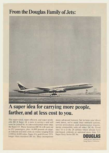 Douglas DC-8 Super 61 Jet Aircraft Photo (1967)