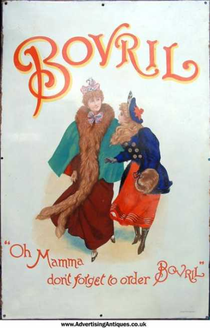 Bovril 'Oh Mamma' Enamel Sign