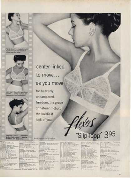 Flexees Womens Bra Slip Loop Pretty Ad T (1957)