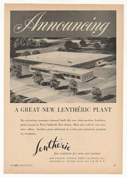 New Lentheric Toiletries Plant West Caldwell NJ (1956)