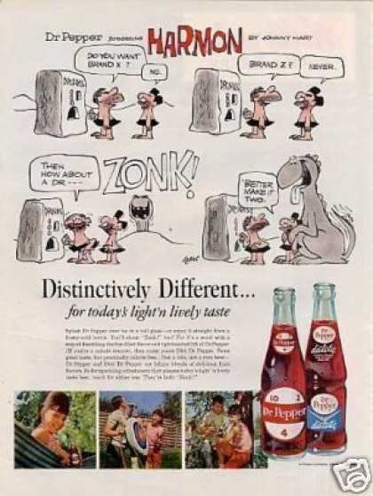 Dr. Pepper Ad Johnny Hart Comic (1965)