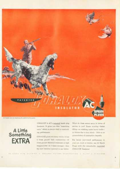 Ac Spark Plugs Setter Bird Dog Quail Hunting (1950)