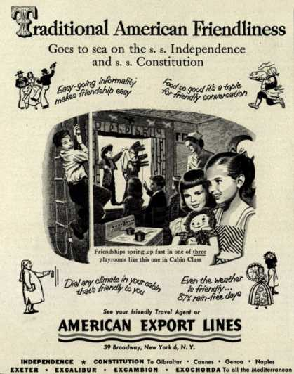 American Export Lines – Traditional American Friendliness (1953)