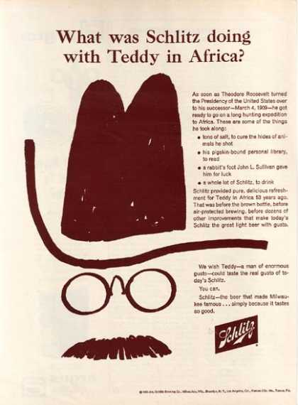 """What was Schlitz doing with Teddy in Africa"" (1963)"