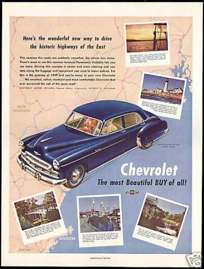 Chevrolet Styleline DeLuxe 4dr Car East USA (1949)