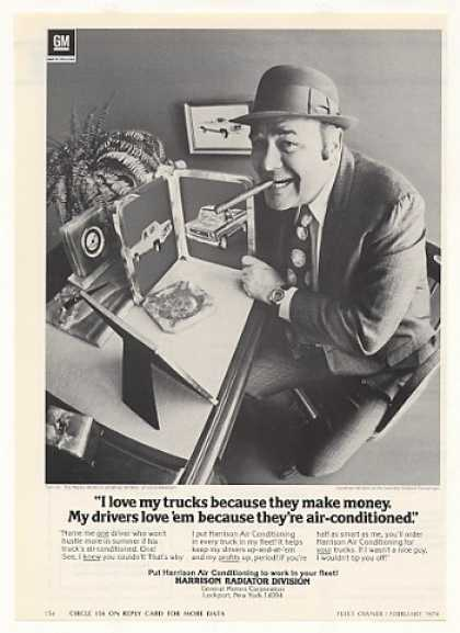 Jonathan Winters Love Trucks Harrison A/C Photo (1974)
