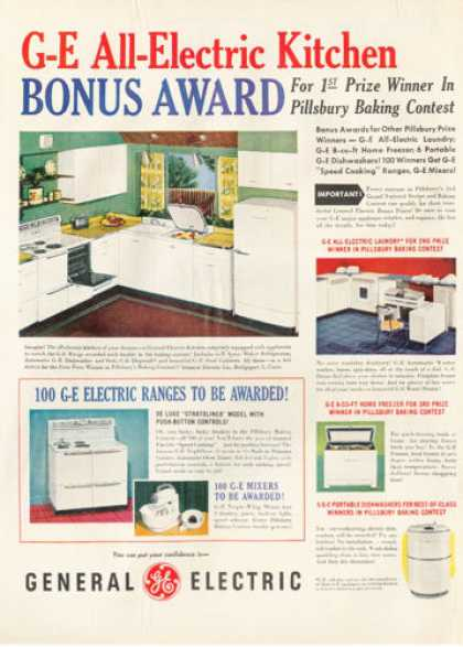 Ge General Electric Kitchen Appliances (1950)