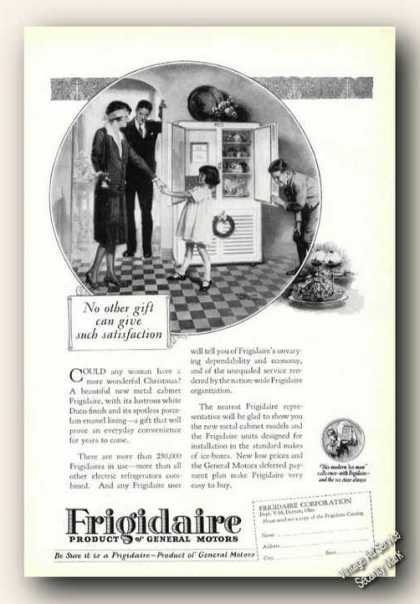 Frigidaire Art No Other Gift Refrigerator (1926)