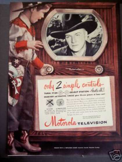 Hopalong Cassidy On Tv Motorola Television (1950)