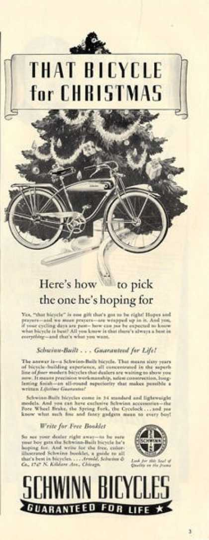 Schwinn Bicycle Classic Bike T (1940)