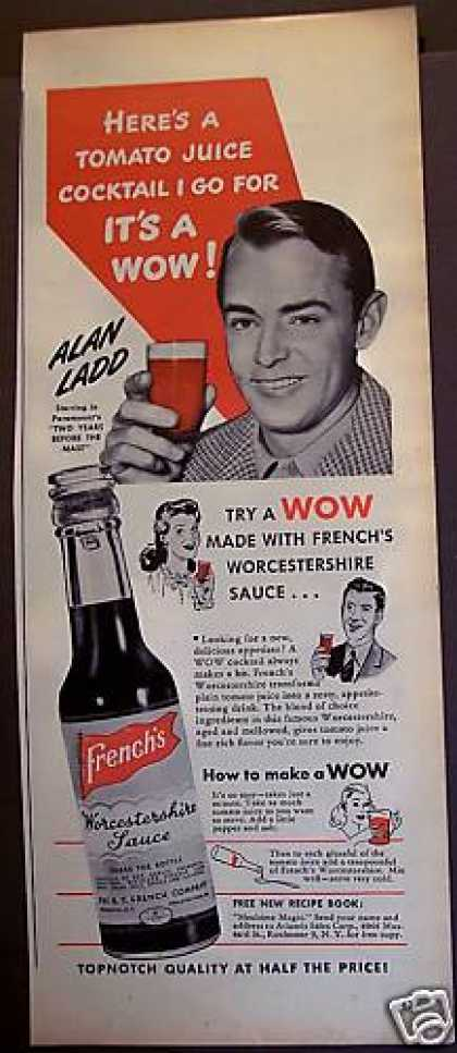 Alan Ladd French's Worcestershire Sauce (1945)
