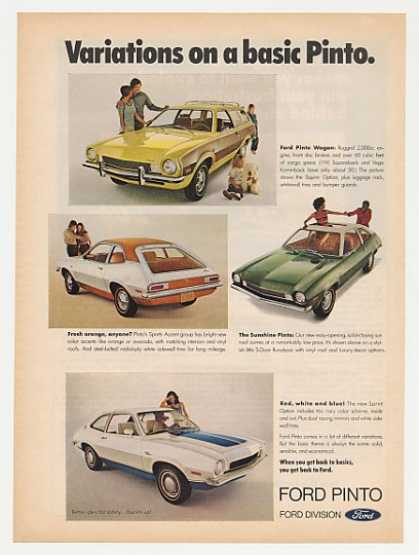 Ford Pinto Runabout Wagon Variations (1972)