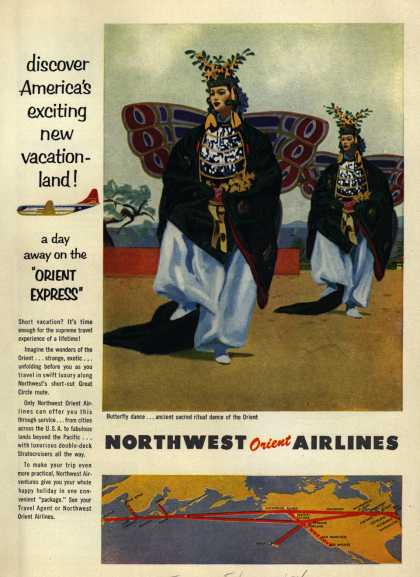 Northwest Airline's Orient Express – discover America's exciting new vacationland (1954)