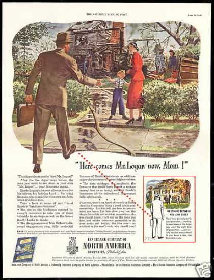 North America Insurance Co Agent Home Fire (1948)