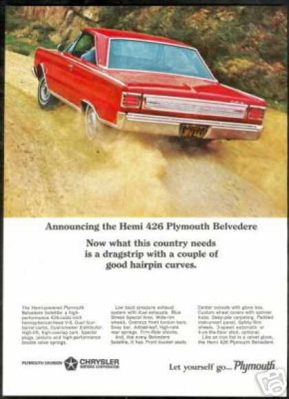Red Chrysler Plymouth Belvedere Hemi 426 Photo (1966)