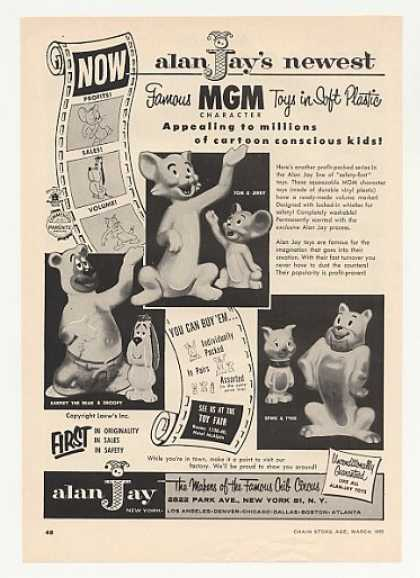 Alan Jay Tom & Jerry MGM Character Toys Trade (1955)