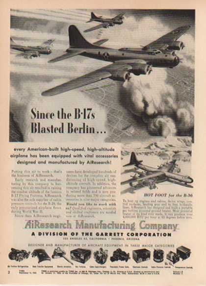 AiResearch Manufacturing Aircraft – B-17 Flying Fortress (1952)
