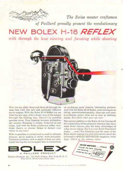 Bolex H-16 Reflex Camera – Swiss made by Paillard (1957)
