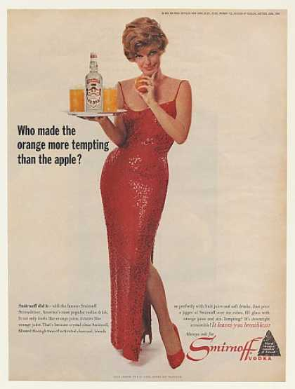 Julie London Smirnoff Vodka Screwdriver Photo (1964)