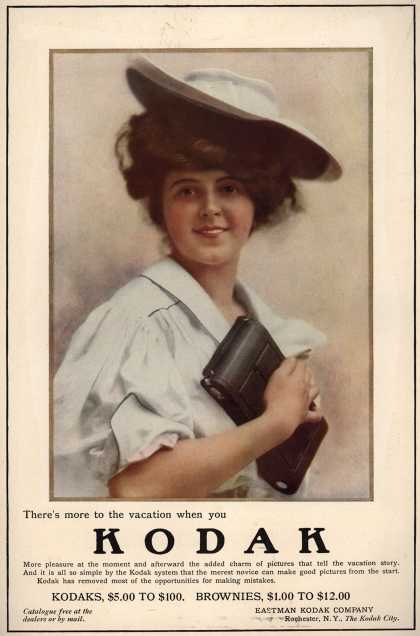 Kodak – There's more to the vacation when you Kodak (1908)